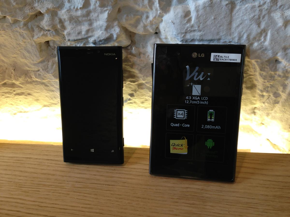 Nokia Lumia 920 e LG Vu
